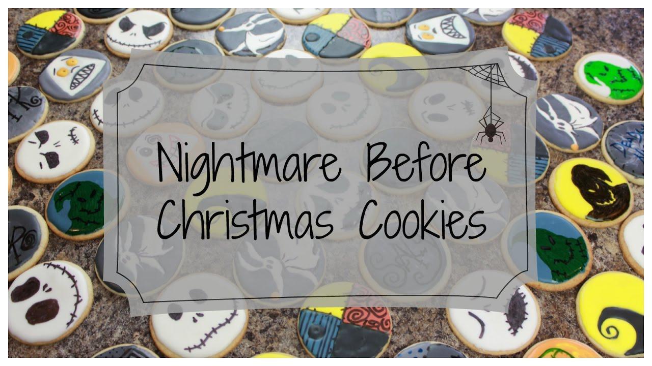 DIY Nightmare Before Christmas Cookies - YouTube