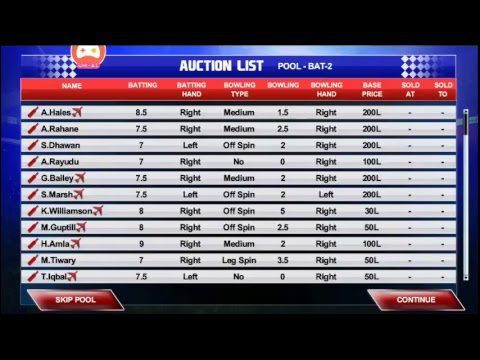 IPL 2K17 AUCTION @REALCRICKET |Buy your own players