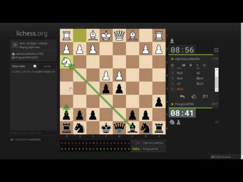 Educational atomic chess stream, on lichess.org