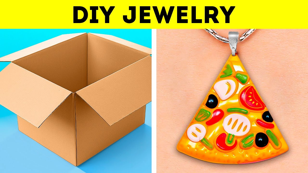 Cheap And Colorful DIY Jewelry Ideas || Wonderful cardboard crafts