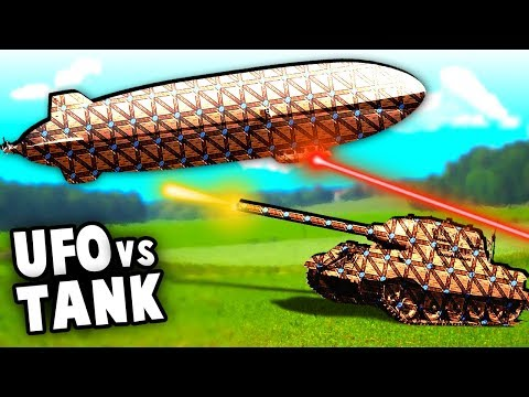 UFO Airship vs WW2 Fort  Defenses and Wonder Tank (Forts Mod Gameplay)