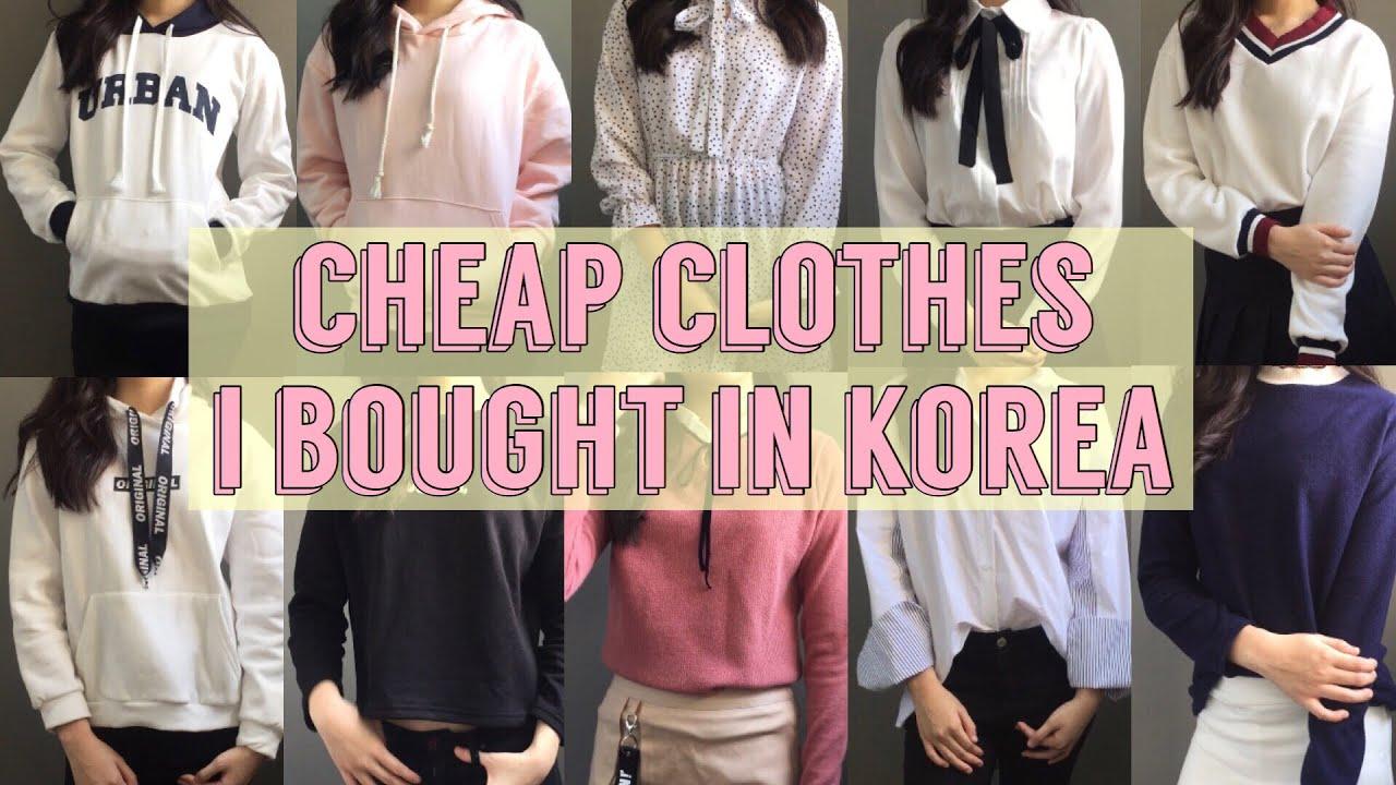 -5KG JEANS? $3 H&M CLOTHES? $5 HOODIE? CHEAP KOREAN CLOTHES UNDER $10!  (hoodie, shirt, dress, etc)