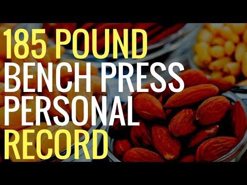 BENCH PRESS PERSONAL RECORD 185 POUNDS! (Workout VLOG Day 14)