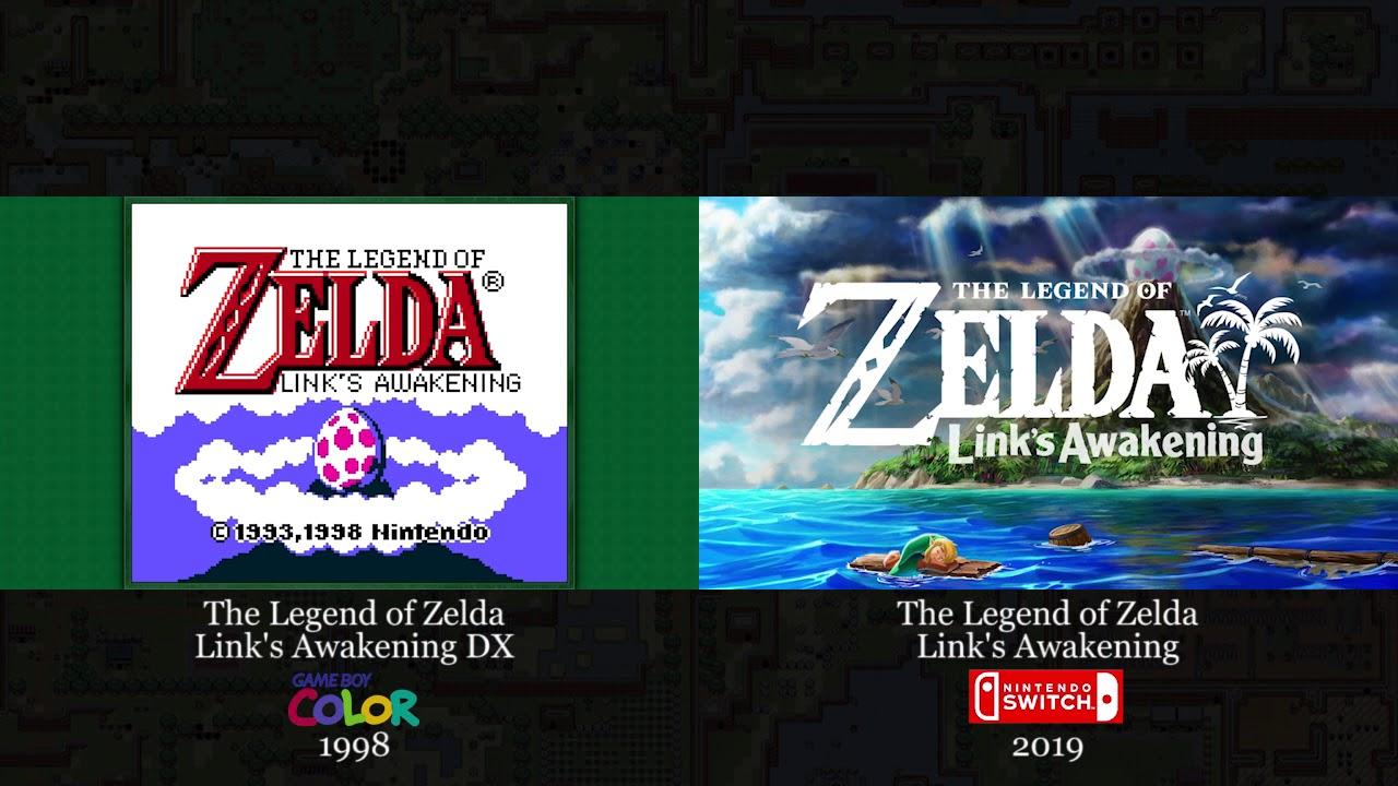 Link S Awakening Full Trailer Comparison Nintendo Switch Vs Game Boy Color