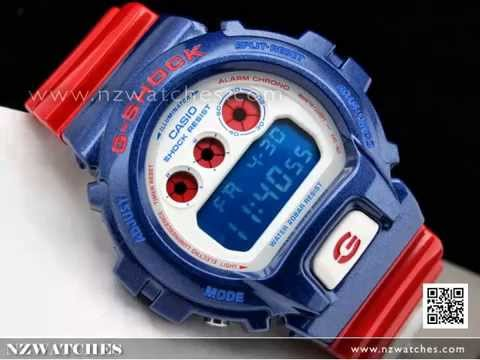 Casio G-Shock Red   Blue 200M Sport Watch DW-6900AC-2 858ed7711375
