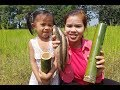Amazing Cooking Burning Fish in Bamboo holes Delicious -Cook Fish Recipes -Village Food Factory-Food