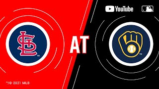 Cardinals at Brewers | MLB Game of the Week Live on YouTube