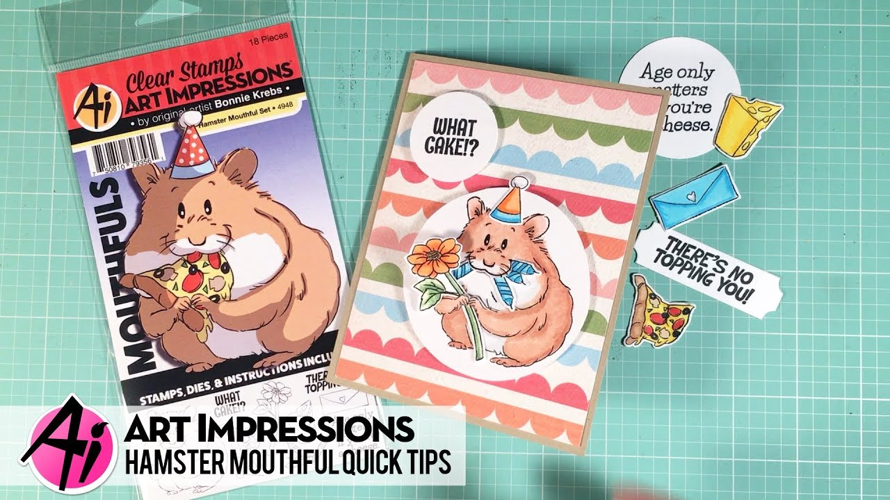 Dog Art Impressions 4949 Mouthfuls Stamp /& Die Set