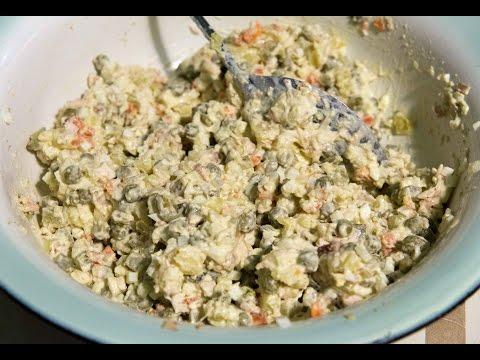 Столичный салат, отличие от Оливье, основные ингредиенты