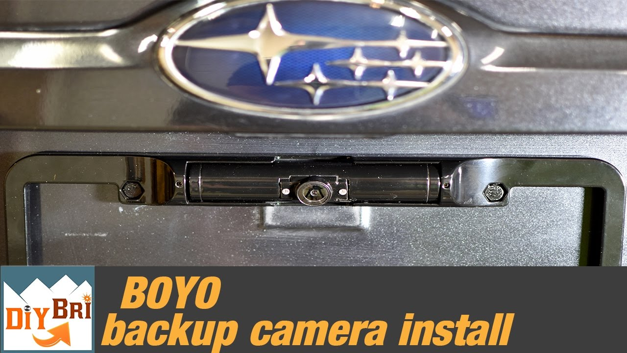 how to install a backup camera subaru [ 1280 x 720 Pixel ]