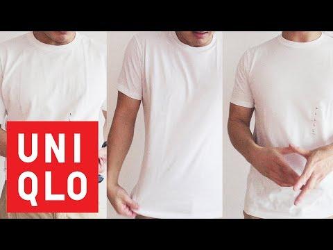 3 UNIQLO White T-Shirts Compared! - (UNIQLO U / Cotton Supima / DRY / Review)