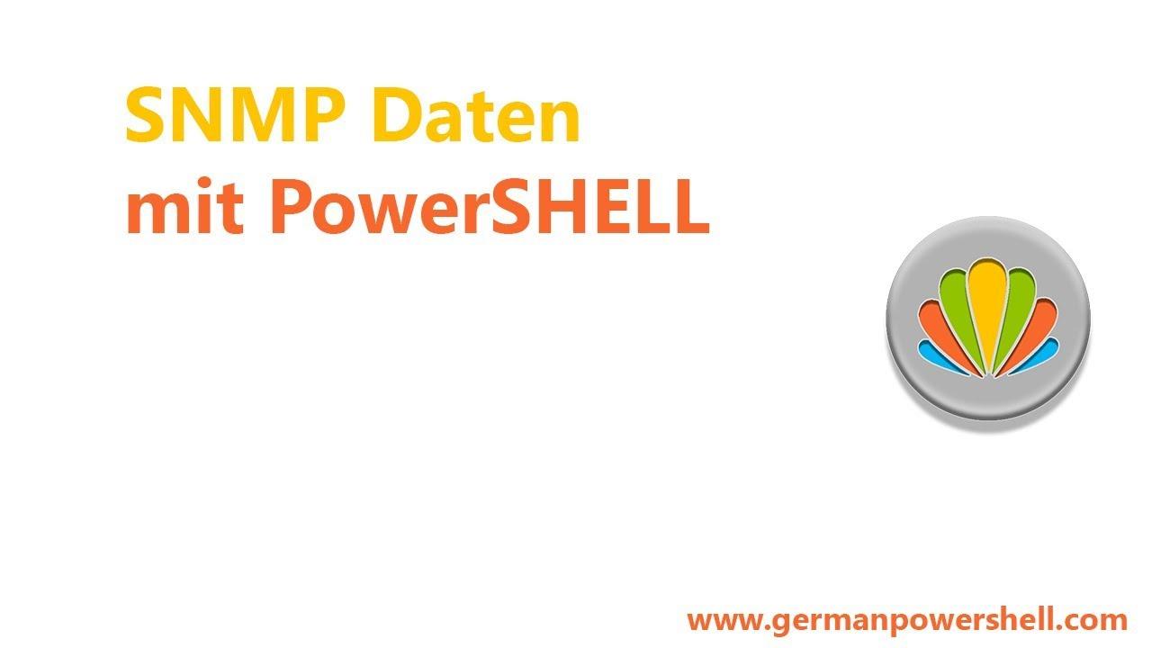 SNMP Daten mit PowerSHELL | German PowerSHELL