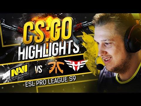 ХАЙЛАЙТЫ NAVI vs fnatic, Heroic на ESL Pro League S9