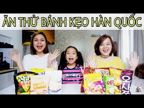 Ăn thử bánh kẹo Hàn Quốc cùng chị em Song Thư- SONG THƯ CHANNEL