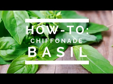 Image result for images of chiffonade basil