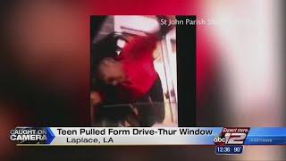 Caught on Camera: Teen pulled through McDonald's drive-thru window