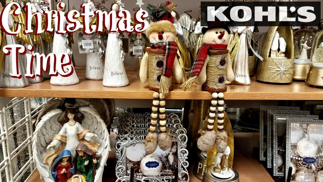 shop with me kohls christmas decor 2017