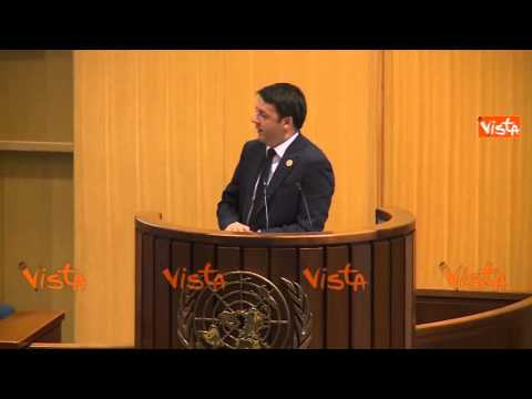 Renzi alla Conf. ONU in Etiopia: 'Scusate il ritardo ma ho passato la notte a salvare l'europa'
