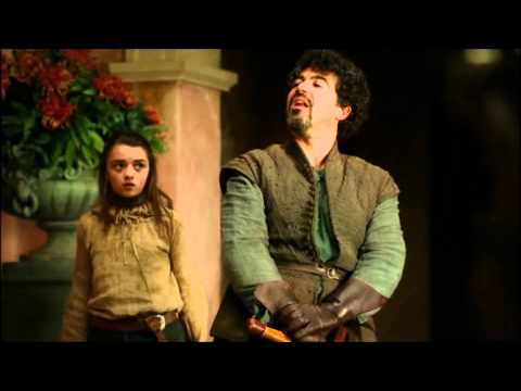 Game of Thrones: Syrio Forel fighting lannister guards