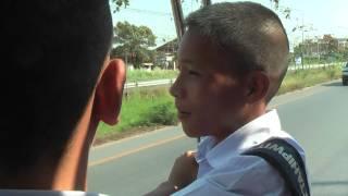 ТАЙЛАНД: Тайские школьники на тук-туке... Thailand