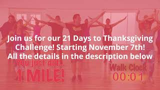 21 Days to Thanksgiving Walk Challenge
