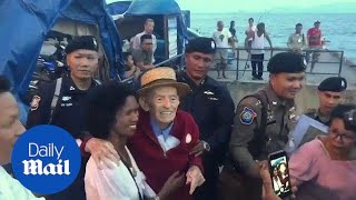 Heart-warming moment 99-year-old is reunited with wife