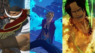 One Piece Pirate Warriors 4 - Character Trailers Update #5 (Ace, Marco, WhiteBeard +more)