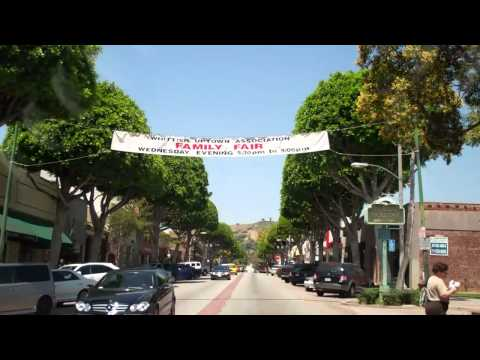 Uptown Whittier CA, Greenleaf Avenue driving from  Penn to Hadley