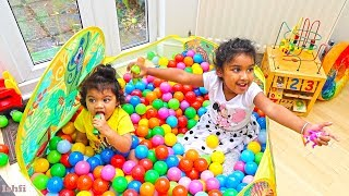 Ishfi and Radia Ball Pit Show and Learn Color