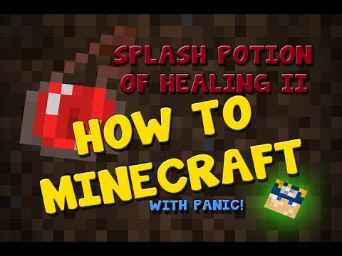How To Minecraft  How to make Splash Potion of Healing II  