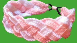 Tiara em crochê com tranças – Passo a passo