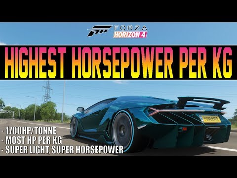 Forza Horizon 4 - MOST Horsepower Per KG Car IN THE GAME! - 1,700 HP/Tonne thumbnail