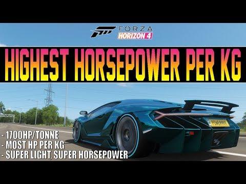 Forza Horizon 4 - MOST Horsepower Per KG Car IN THE GAME! - 1,700 HP/Tonne thumbnail