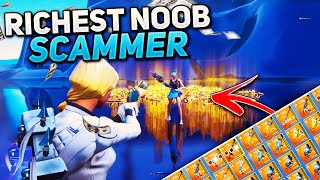 Richest Noob Scammer Gets Scammed For Whole Inventory! (Scammer Gets Scammed) Fortnite Save The World