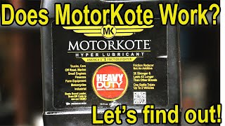 Can MotorKote survive the water test?  Let's find out!