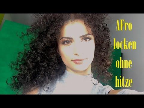 Afro locken ohne Hitze selber machen Mini Locken ohne Hitze selber machen mit Strohhalmen +VERLOSUNG