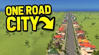 BUILDING A CITY ON ONE ROAD in CITIES SKYLINES