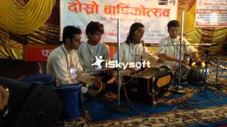 Singing a raag Bhupali Mukesh ghimire
