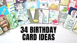 Over 34 Handmade Birthday Card Ideas from My 2021 Card Swap