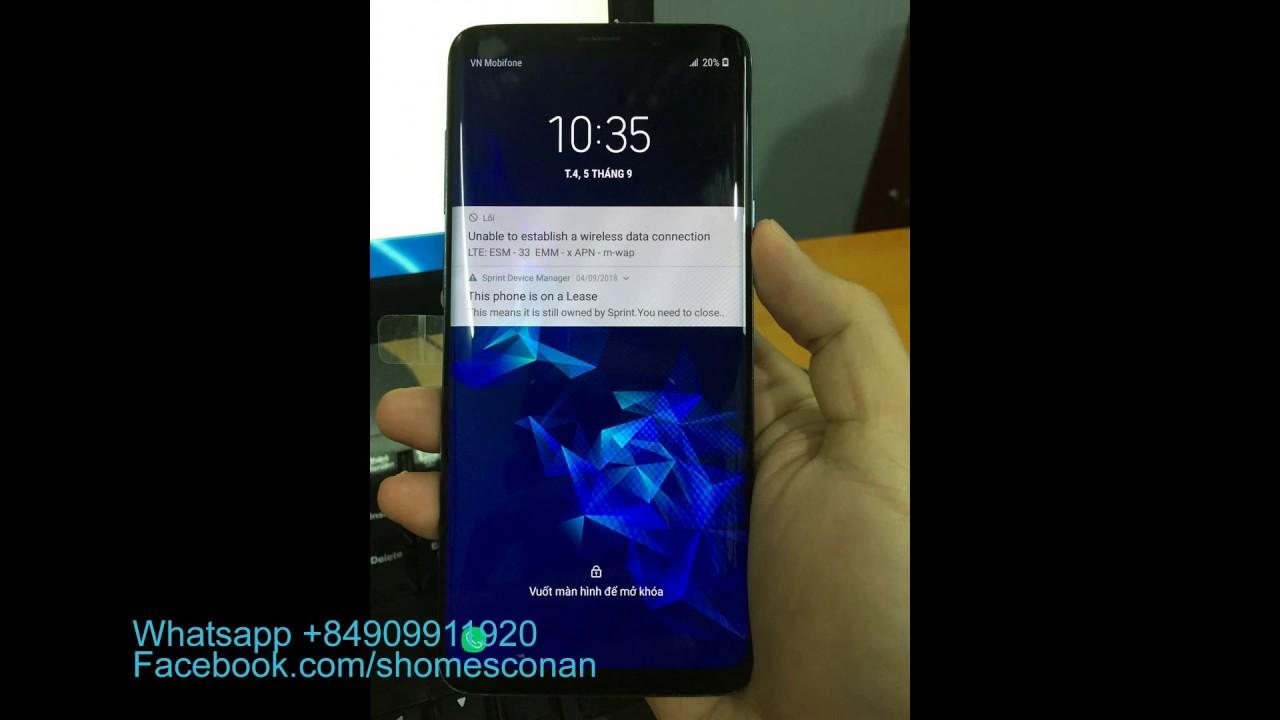 Remove Sprint Lease Samsung Galaxy S9 S9+ G965U G960U