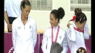 30-06-2013: oro per le azzurre ai giochi del mediterraneo. Le premiazioni