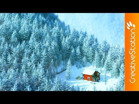 Snow Landscape - 3D Speed art (#Cinema4D, #Photoshop) | CreativeStation