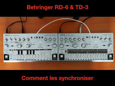 Comment synchroniser les Behringer RD-6 & TD-3 ensemble