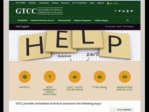 GTCC Student Technical Support Website