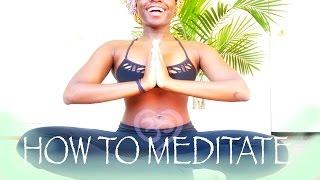 How to Meditate | #LIVEINLOVEWITHYOGI | BLACK YOGA
