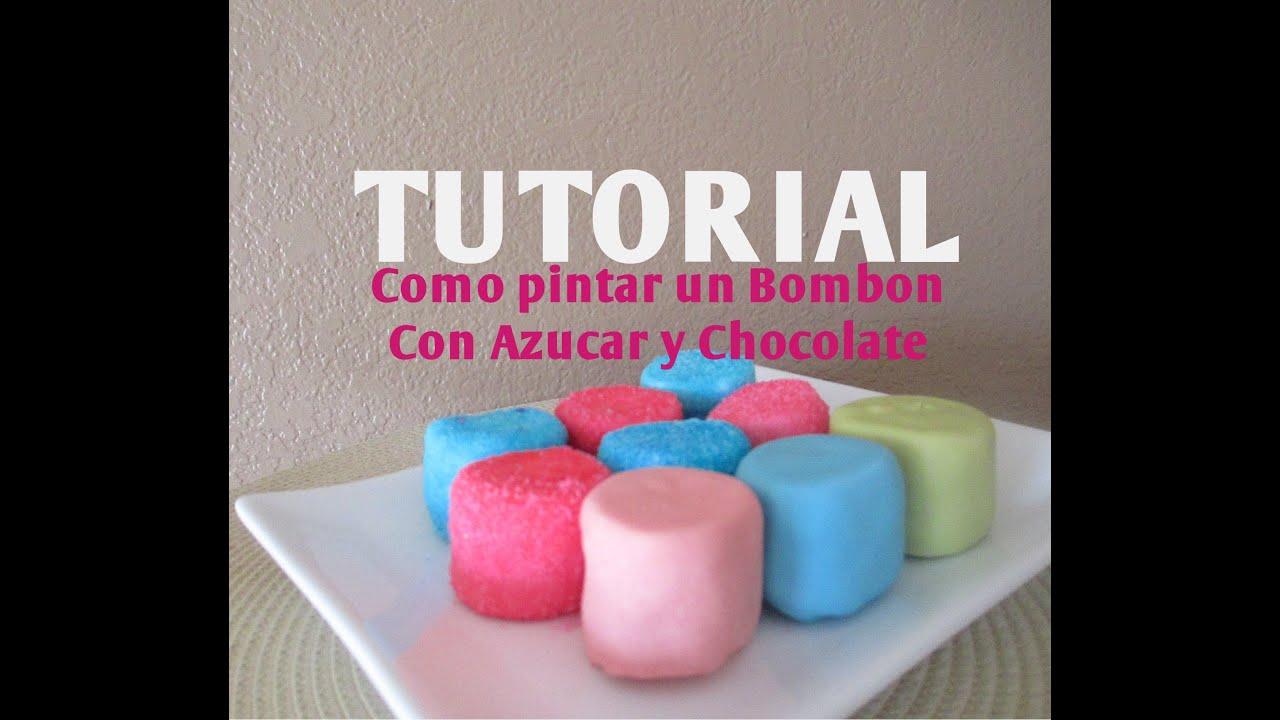 cmo pintar azcar de colores para decorar una paleta de bombn madelinus cakes youtube