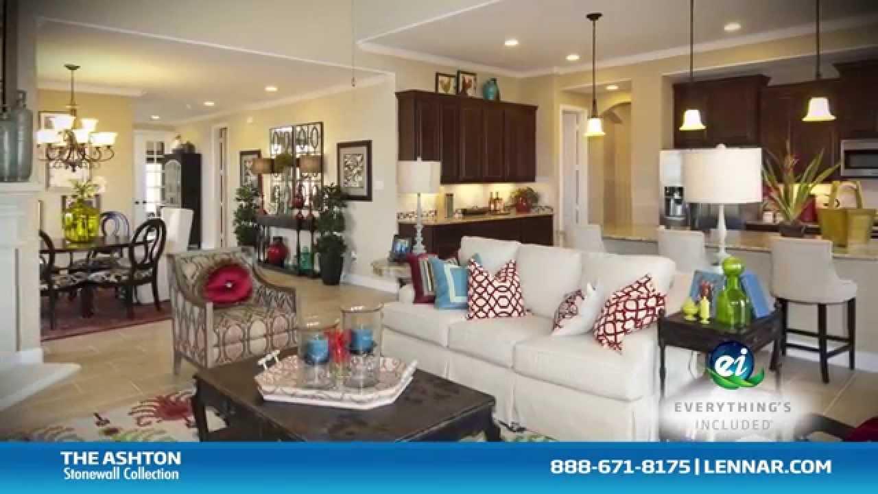 The Ashton New Home Tour Lennar Houston Youtube