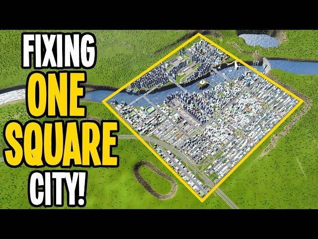 My One Square City Needs an EPIC Fix in Cities: Skylines! (One Tile Challenge)