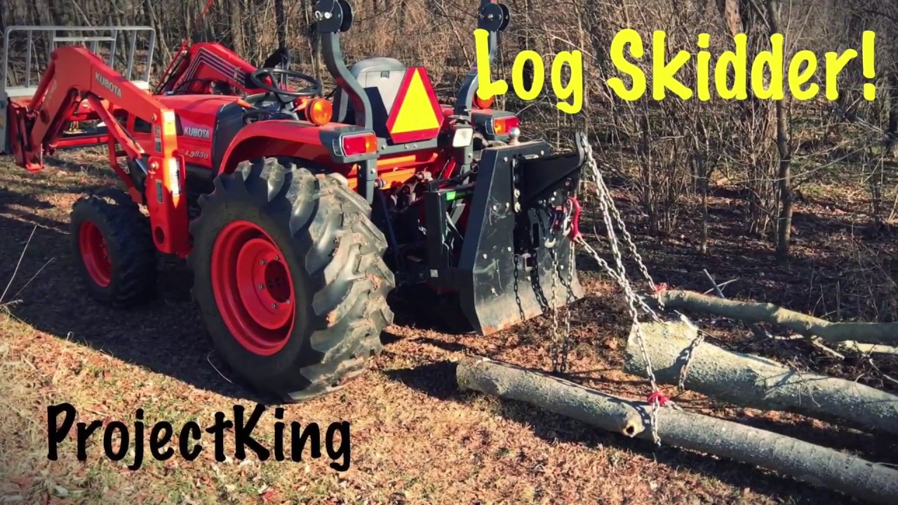 Log Skidder! Logging Tractor in the Woods    3 Point Log Skidder!