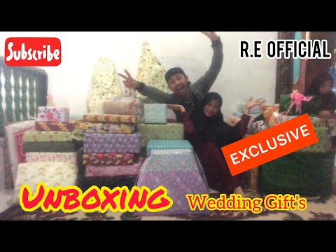 EXCLUSIVE!! Unboxing Wedding Gift's 😍